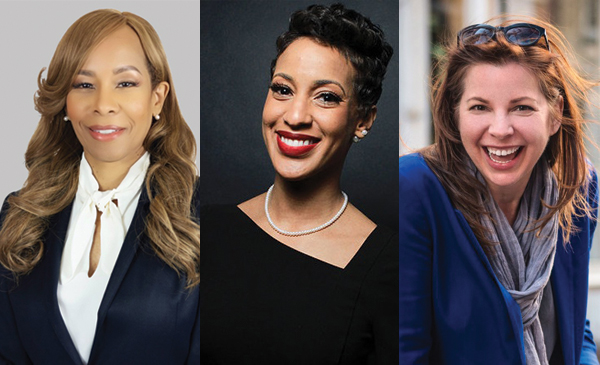 """Suzan Morno Wade, Vice President of Human Resources at Xerox; Ciere Boatright, Vice President of Real Estate & Inclusion at Chicago Neighborhood Initiatives; ate O'Neill, CEO of KO Insights and author of """"Tech Humanist."""""""